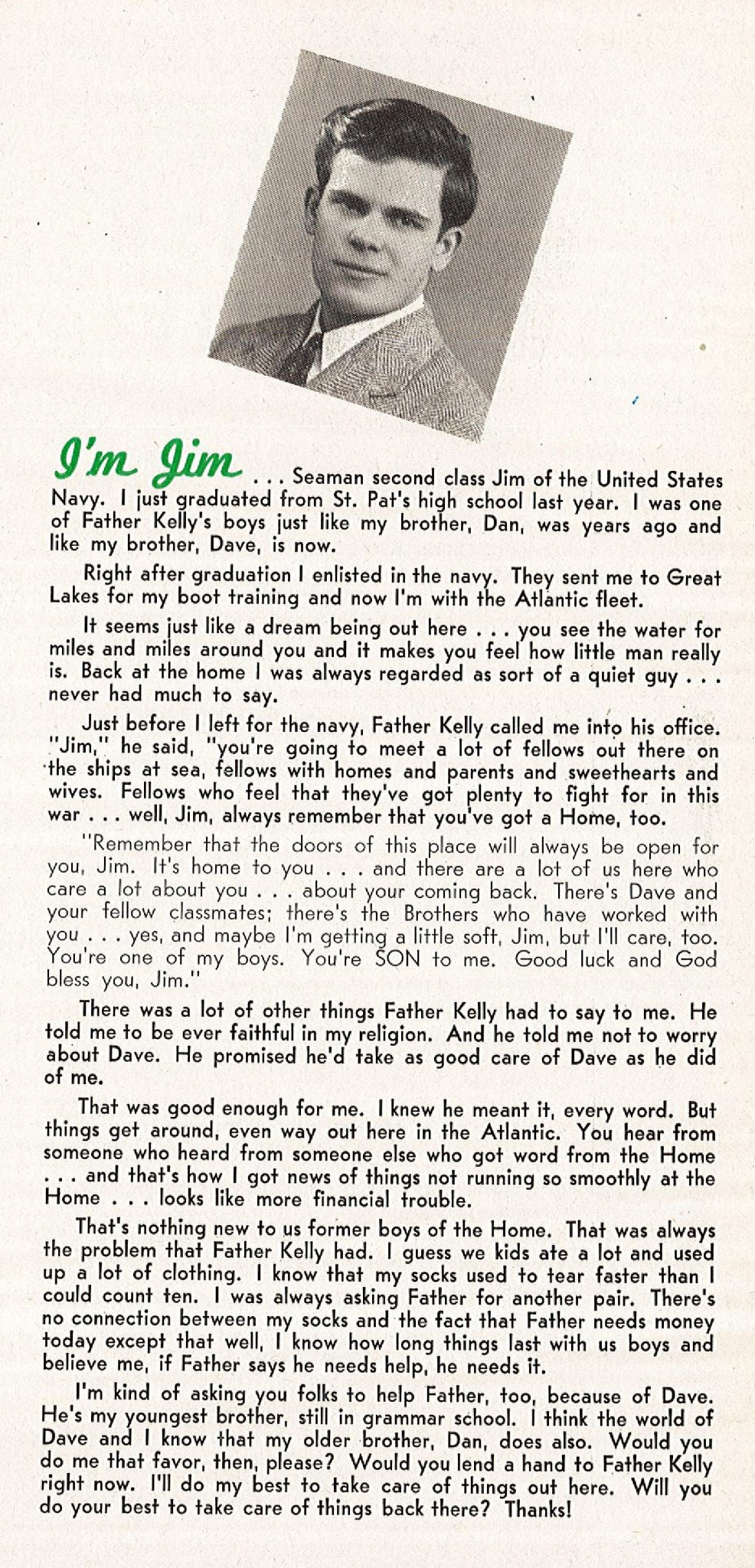 Jim's letter