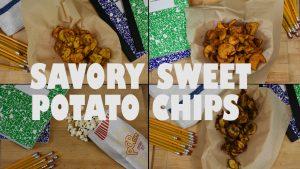 savory sweet potato chips