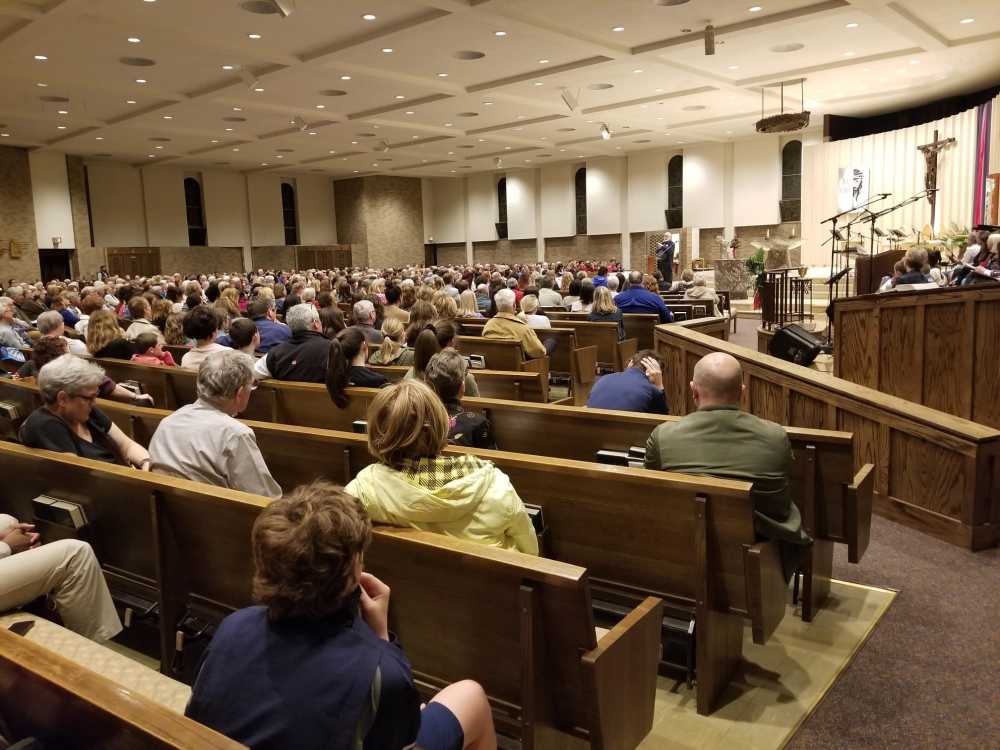St. Barnabas Church packed for an event