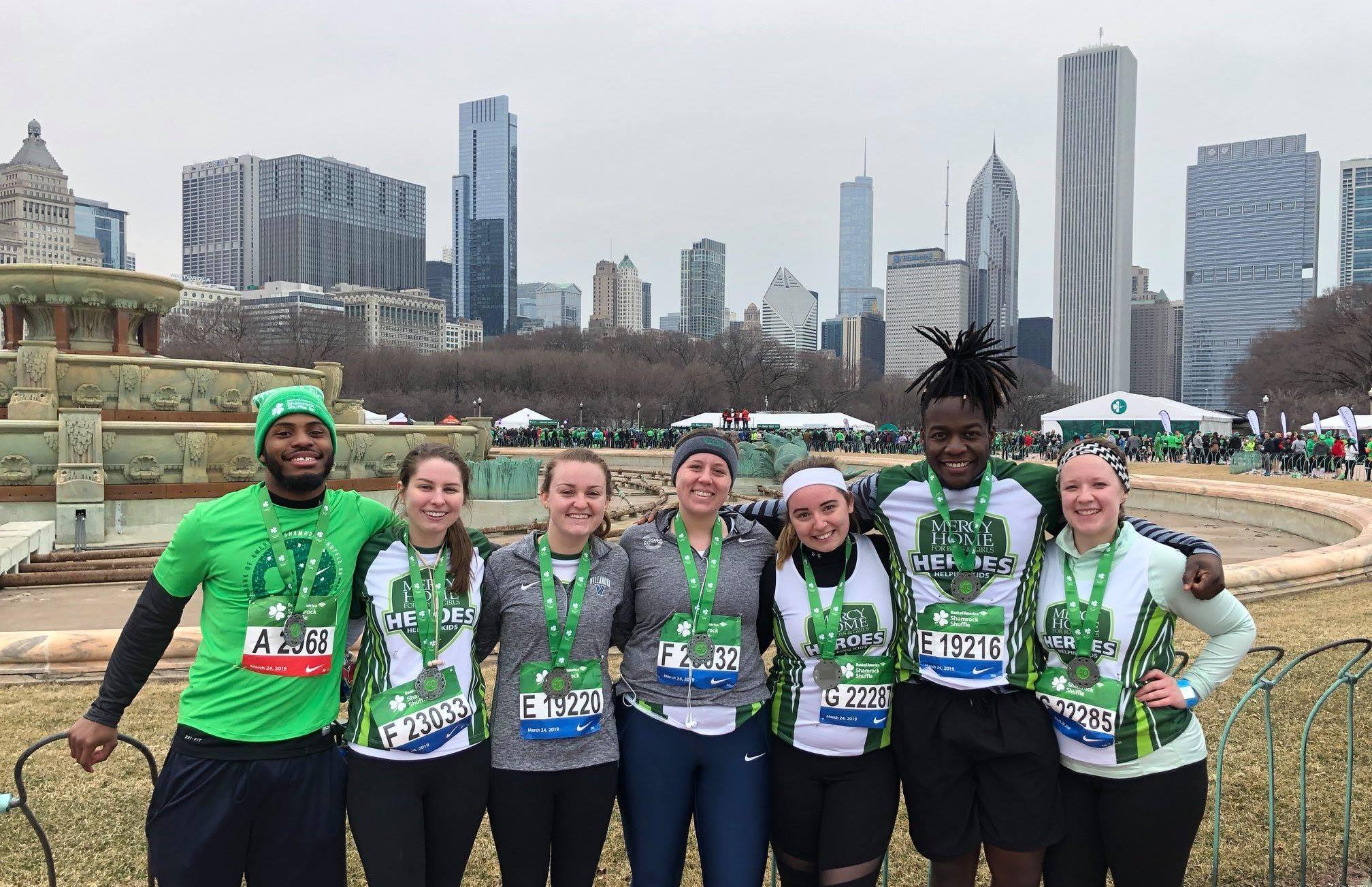 Mercy Home Heroes at Chicago Marathon