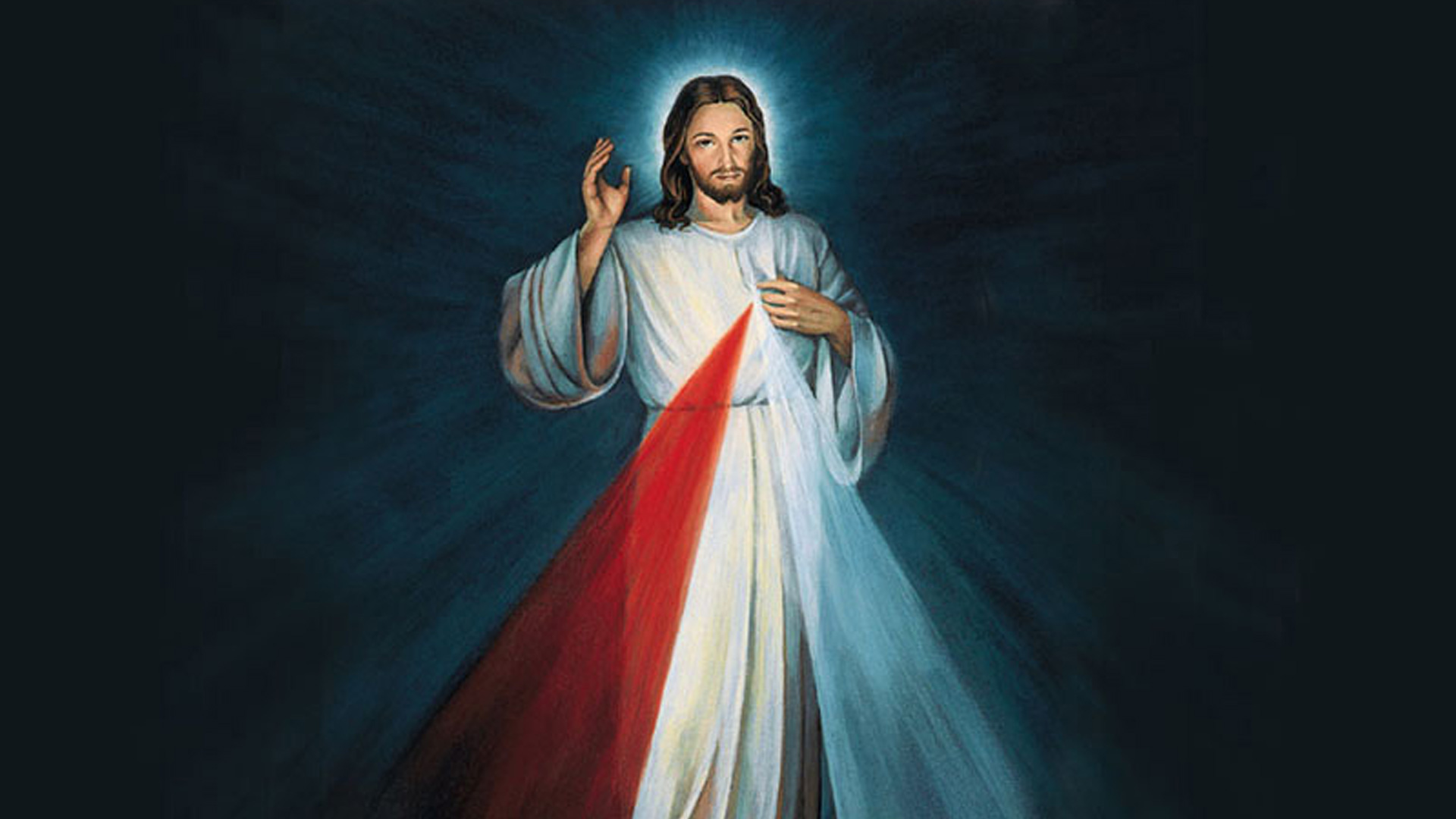 Painting that St. Faustina painted as Jesus stood before him