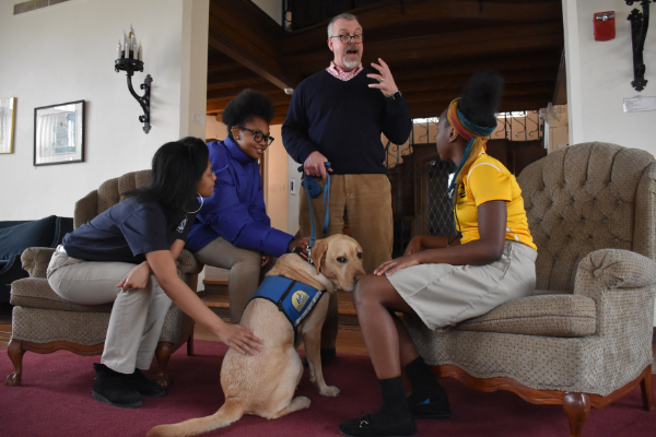 Mercy Home kids spending time with Pongo