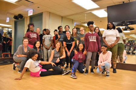 St. Malachy students having dance sessions at TransUnion
