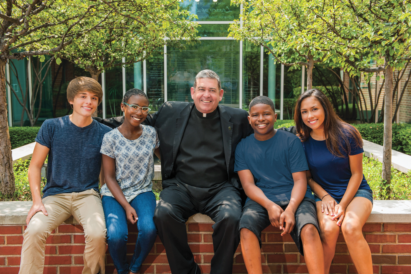 Fr. Scott with Mercy Home kids