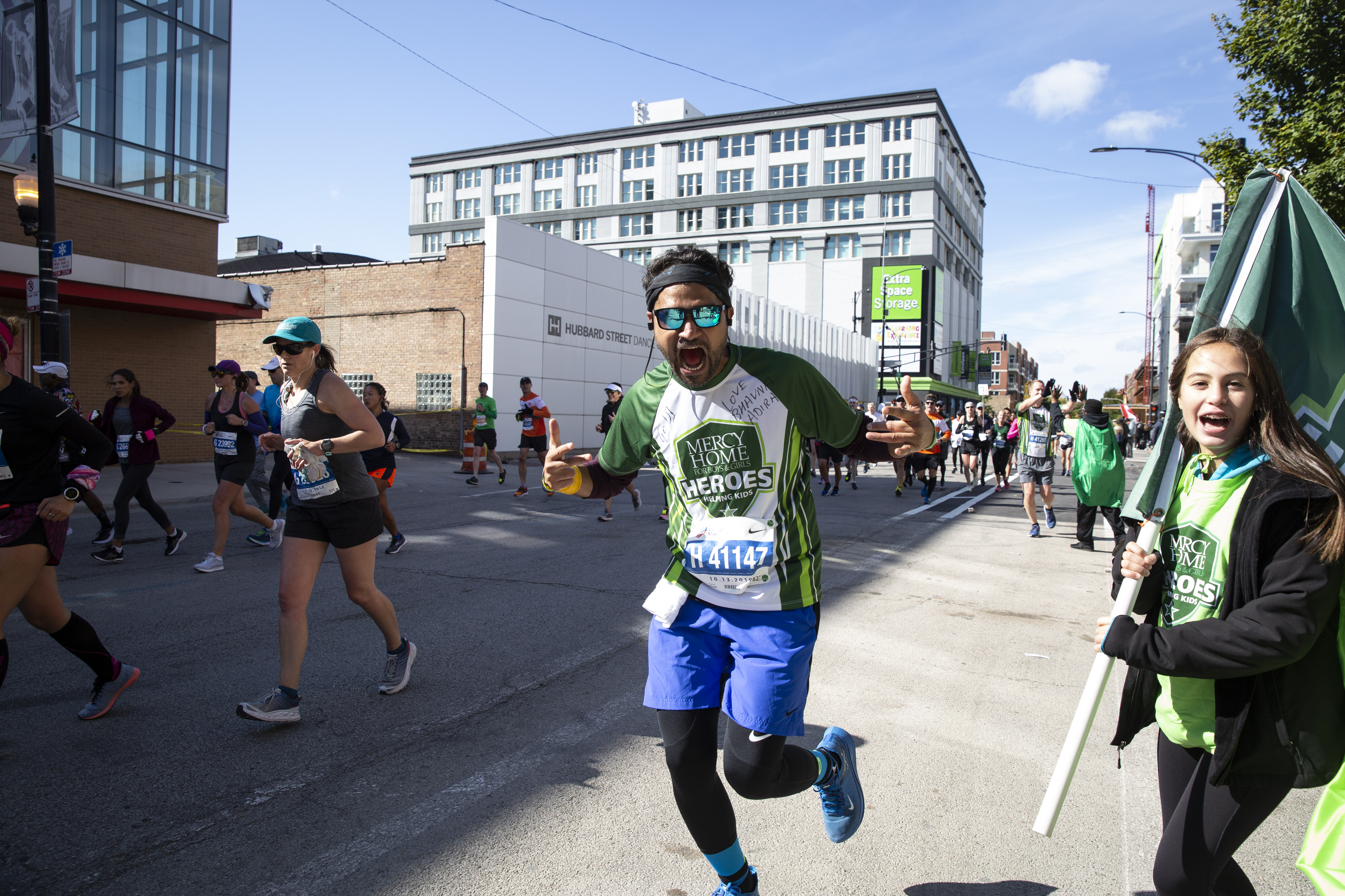 Excited runner at the 2019 Mercy Mile Marathon