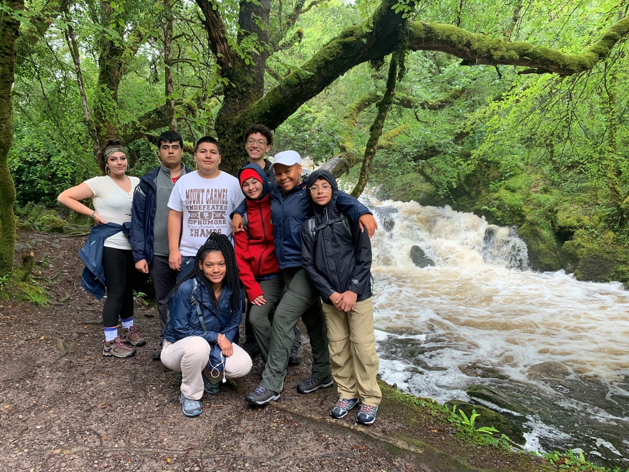 Group of Mercy Home youth hiking in Ireland