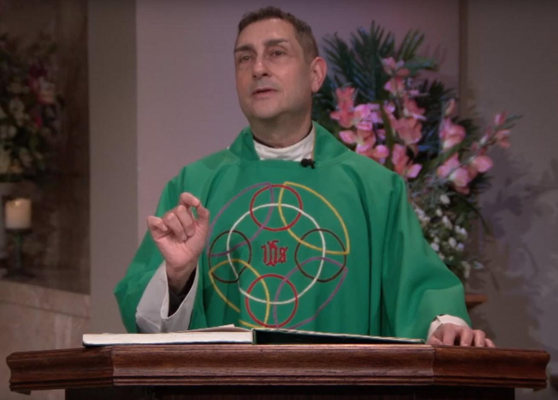 Fr. Carl Morello preaching - 30th Ordinal Sunday