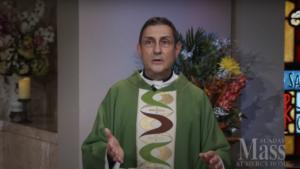 Fr. Carl Morello preaching